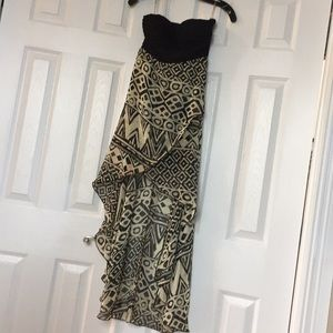 Black and Tan high low dress size small